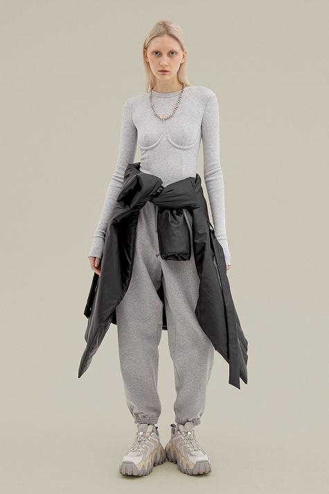 Underwired ribbed bodysuit