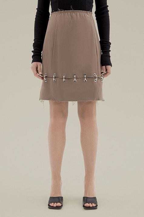 Zip skirt with ring