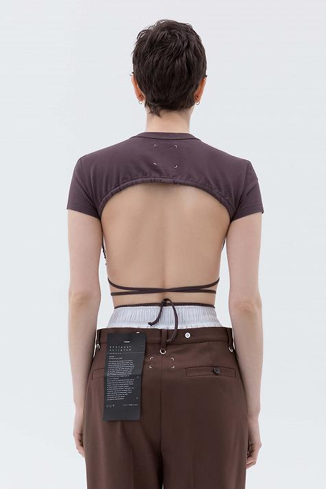 Open back knitted top
